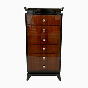 Vintage Art Deco High Chest of Drawers, 1930s