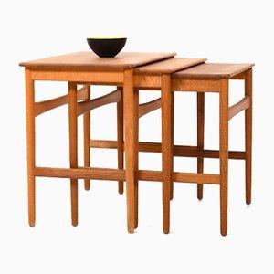 Tavolino modello AT-40 di Hans J. Wegner per Andreas Tuck, anni '60