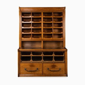 English Oak 30-Drawer Haberdashery, 1930s