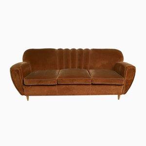 Geschwungenes Art Deco Sofa von Guglielmo Ulrich, 1940er