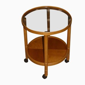 Vintage Wood and Glass Trolley
