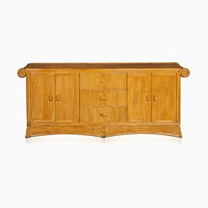 French Bamboo and Rattan Sideboard, 1970s