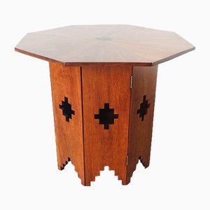 Octagonal Portuguese Side Table in Sucupira Wood