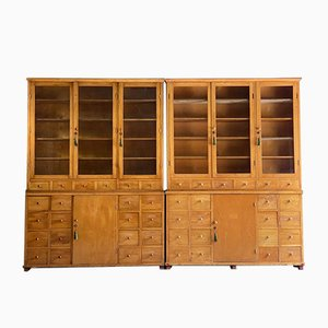 Apothecary Display Cabinets, 1930s, Set of 2