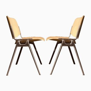 Mid-Century Chairs by Giancarlo Piretti for Castelli, Set of 6