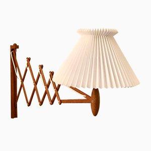 Mid-Century Scissor Lamp in Teak by Erik Hansen for Le Klint, 1960s