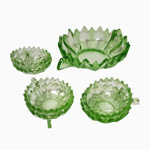 Art Deco Bowl Set for Salad and Dessert, 1920s, Set of 7