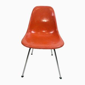 Sedia da pranzo DSS in fibra di vetro e cromata di Charles & Ray Eames per Herman Miller, anni '70