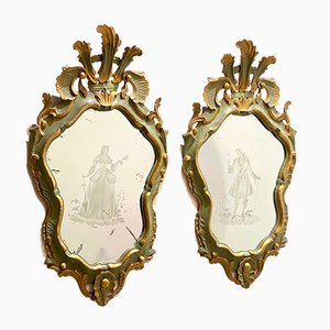 Vintage Mirrors, Set of 2