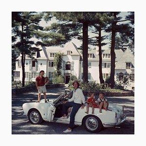 Slim Aarons, Cabot Family, Oversize C Print Framed in White, 1960s