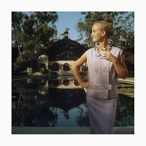 Slim Aarons, California Fashion, Oversize C Print Framed in Black, 1956