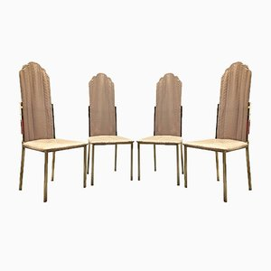 Vintage Dining Chairs by Alain Delon, Set of 4