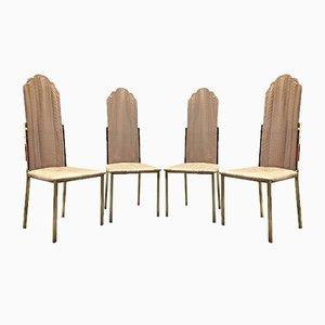 Vintage Esszimmerstühle von Alain Delon, 4er Set