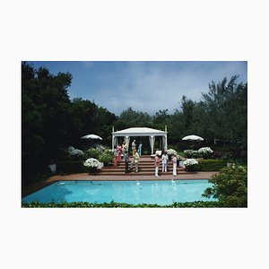 Slim Aarons, California Garden Party, Oversize C Print Framed in White, 1975