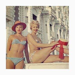 Slim Aarons, Cannes Girls, Oversize C Print Framed in White, 1958
