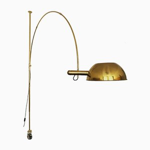 Brass Boca Arc Floor Lamp by Florian Schulz, 1970s