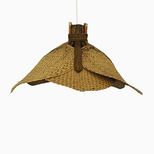 Wicker Pendant Lamp, 1960s