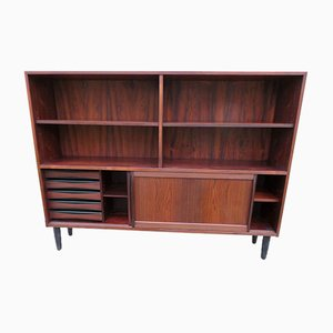 Long & Low Bookcase in Rosewood with Sliding Doors & Drawers from Sibast, 1960s