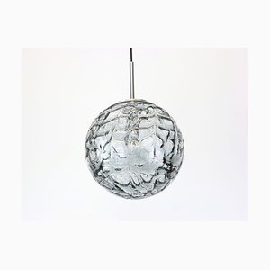 Murano Ball Pendant Light from Doria, Germany, 1970s