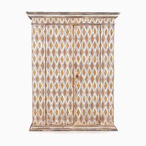 19th Century Italian Hand-Painted Pine Cabinet, 1800s