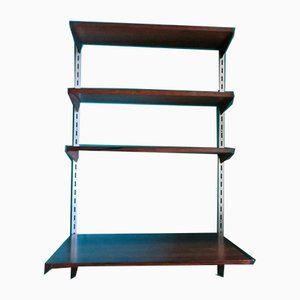 Rosewood Wall Shelving System by Kai Kristiansen for FM Møbler, 1960s, Set of 4