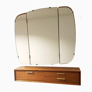 Mid-Century Hanging Dressing Table & Mirror by A. A. Patijn for Zijlstra Joure, Set of 2