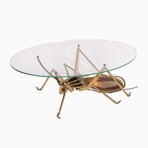 Beetle Cicada Illuminating Coffee Table by Henri Fernandez for Maison Honore, 1970s