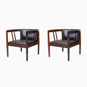 Rosewood Lounge Chairs by Illum Wikkelsø for Holger Christiansen , 1960s, Set of 2
