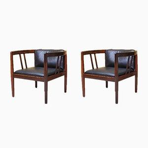 Rosewood Lounge Chairs by Illum Wikkelsø for Holger Christiansen , 1960s, Set of 2