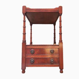 Vintage English Mahogany Side Table