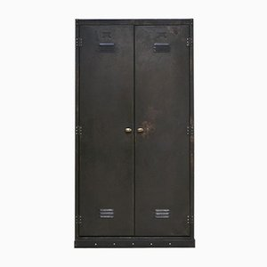 Mid-Century Industrial Compartment Cabinet Locker