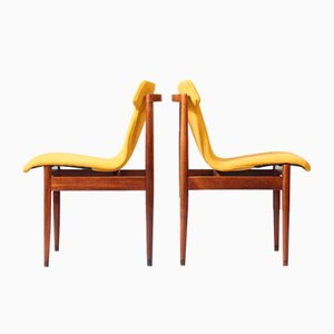 Mid-Century Rosewood Dining Chairs by Inger Klingenberg for Fristho, Set of 4