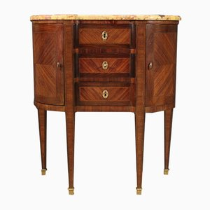 French Inlaid Dresser With Marble Top