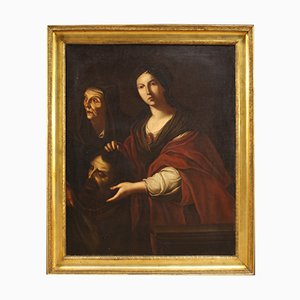 Antique Italian Painting Judith and Holofernes, 18th-Century