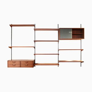 Teak Wall Unit from Feldballes Mobelfabrik, 1960s