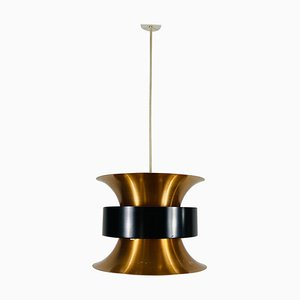 Danish Copper and Black Pendant Lamp, 1960s