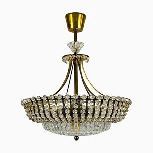 Brass Chandelier by Rupert Nikoll, 1960s