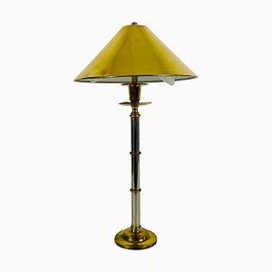 Lampada da tavolo in ottone massiccio, Germania, anni '60