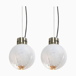 Pendant Hanging Light by Carlo Nason for Mazzega, Set of 2