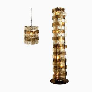 Murano-Leuchten von Carlo Nason für Mazzega, Italien, 1969, 2er-Set