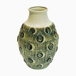 Vintage Ceramic Vase with Symbols, West Germany, 1960s