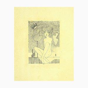 Leo Guida, Akt, Original Radierung auf Papier, 1970er Jahre
