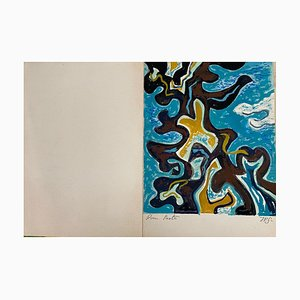 Inconnu, Arabesques tropicales, dessin aquarelle original, années 1970