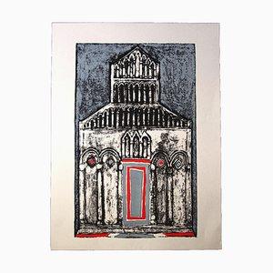 Franco Gentilini, die Kathedrale, Original Offset, 1970er
