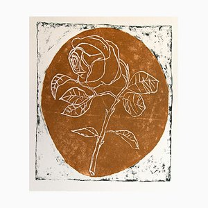 Franco Gentilini, the Rose, Original Offset, 1970s