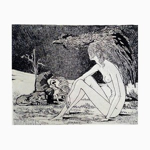 Leo Guida, Sybil, Original Radierung, 1970