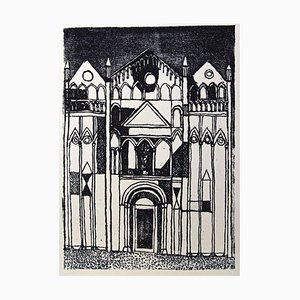 Franco Gentilini, the Cathedral, Original Offset, 1970s