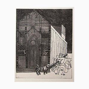 Franco Gentilini, die Kathedrale, Original Offsetdruck, 1970er Jahre