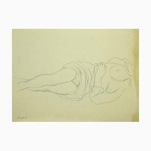 Leo Guida, Nude, Original Pencil Drawing, Late 20th Century