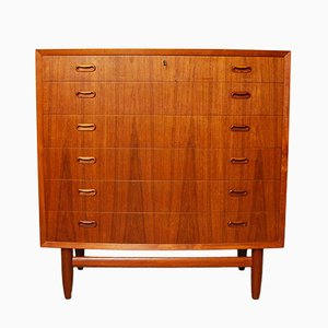 Danish Bow Fronted Teak Chest